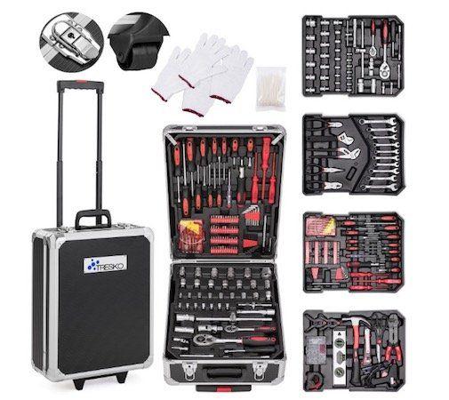 Tresko Werkzeug Trolley mit 735 Teilen für 62,79€