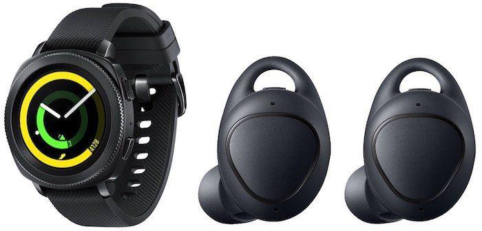 Samsung Gear Sport Smartwatch + Gear IconX wireless In Ear Kopfhörer für 279€(statt 361€)