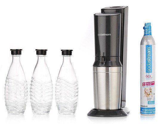 Sodastream Crystal 2.0 Wassersprudler mit 3 Glaskaraffen + 1 Zylinder ab 80,74€ (statt 115€)
