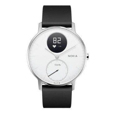 Nokia Steel HR   Fitnessuhr (36mm) mit Herzfrequenz  & Aktivitätsmessung für 135€ (statt 158€)