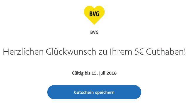 Abgelaufen! 5€ Rabatt auf BVG Tickets dank Paypal Zahlung über die BVG Ticket App