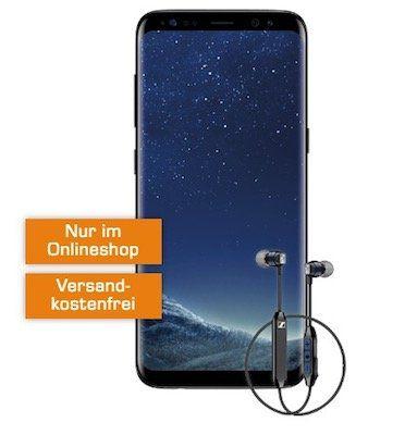 Samsung Galaxy S8 + Sennheiser CX6 In Ear für 49€ + Vodafone Tarif mit 2GB für 16,99€ mtl.