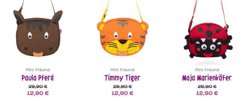 Affenzahn Mini Umhängetaschen ab je 12,90€ + keine VSK   z.B. Freund Eluise Eule Umhängetasche für 12,90€ (statt 23€)
