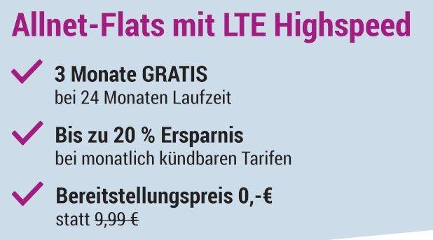 TOP! o2 Flat mit 3GB LTE für nur 7,99€ mtl.   monatlich kündbar und ohne Datenautomatik!