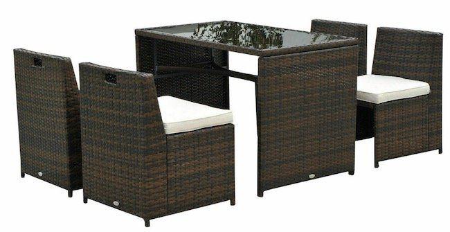 Outsunny Polyrattan Lounge Set für 279,99€