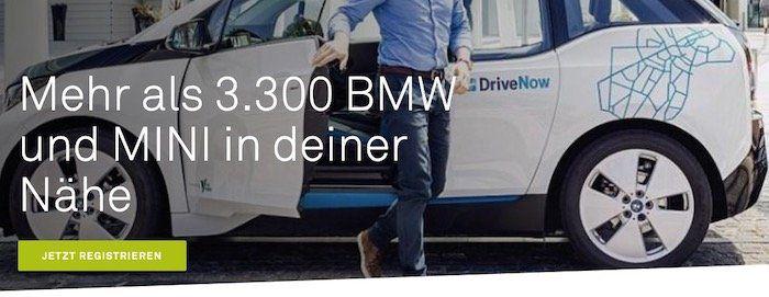 DriveNow Anmeldung für 9,98€ (statt 29€) inkl. 15€ Guthaben