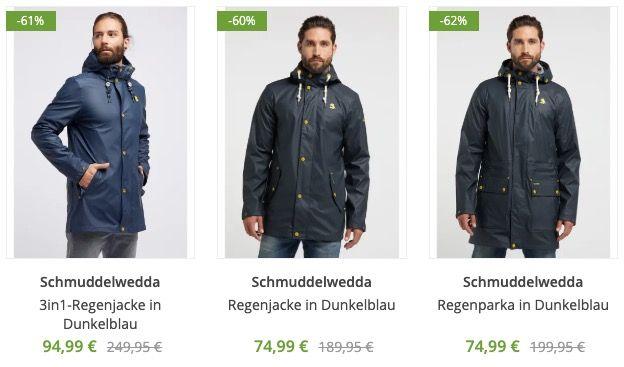 Schmuddelwedda Sale bis  62% Rabatt   z.B. Regenjacken ab 74,99€ (statt 120€)