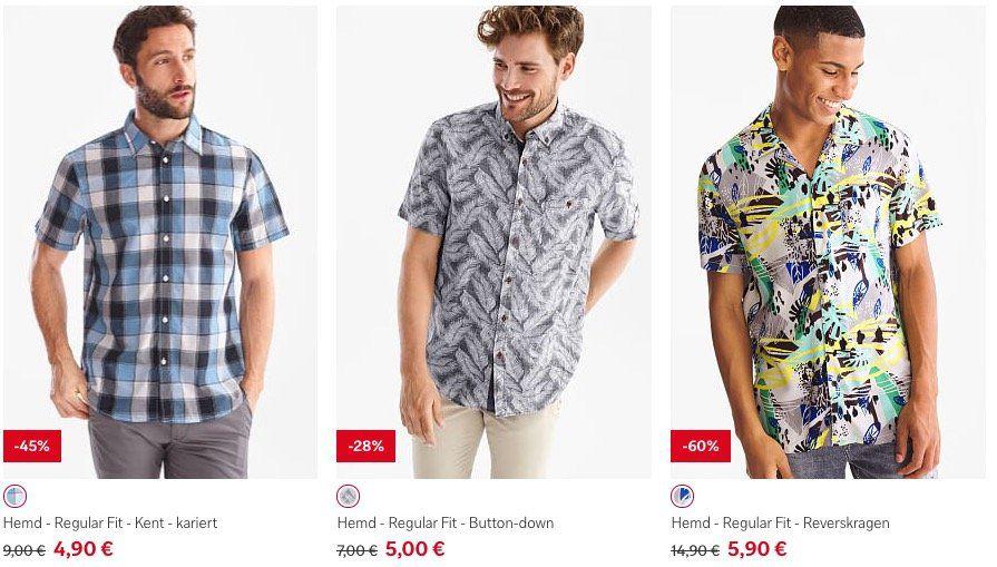 C&A komplett ohne Versandkosten (statt 5,95€)   z.B. Hemden im Sale für 4,90€