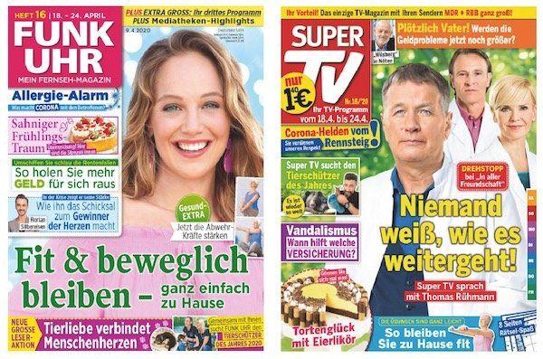 13 Ausgaben Funk Uhr oder Super TV für je 12€ + 10€ Tchibo Gutschein
