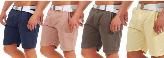 Brave Soul AZ46   Herren Chino Shorts + Gürtel für je 17,90€