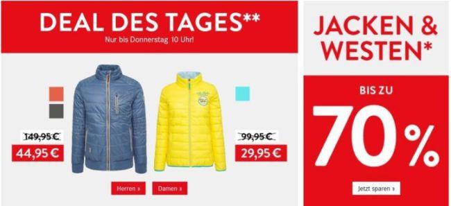 CAMP DAVID SOCCX & SOCCX mit 70%% Rabatt auf Westen und Jacken z. B. Damen Wendeweste ab 29,95€