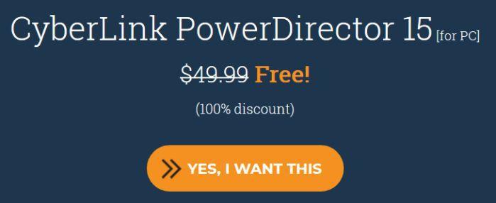 CyberLink PowerDirector 15 LE (Lifetime Lizenz, Windows) kostenlos