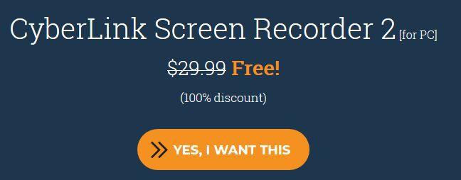 Cyberlink Screen Recorder 2 (Lifetime Lizenz, Windows) kostenlos
