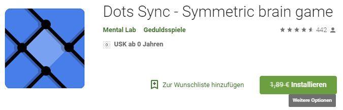 Dots Sync   Symmetric brain game (Android) gratis statt 1,89€