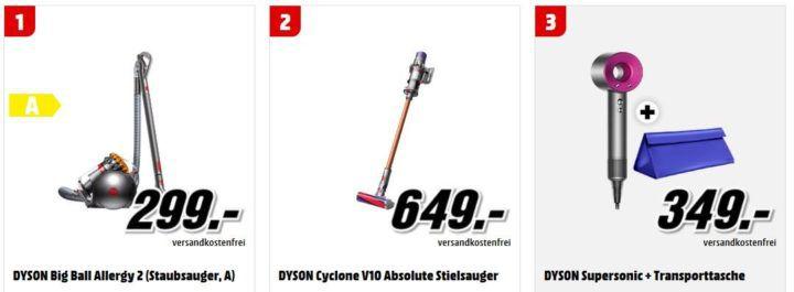 Media Markt Dyson Tiefpreisspätschau: u.a. DYSON Supersonic Fön für 349€