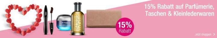 Muttertags Angebote Galeria Kaufhof: mit 15% Rabatt auf fast alle Artikel bei Parfümerie, Damentaschen und Kleinlederwaren