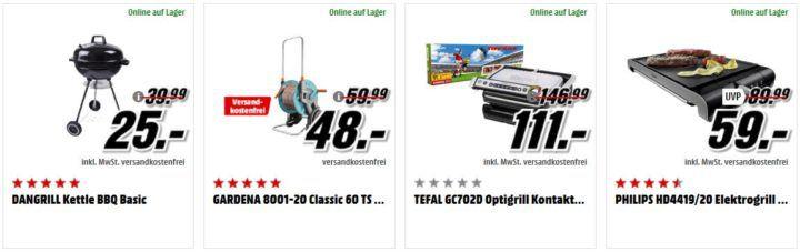 Media Markt Gartenfreude günstiges Grills & Gartenartikel   z.B. JAMIE OLIVER JC7802 Messerblock für 99€ (statt 184€)