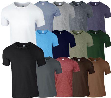 GILDAN Herren T Shirts mit Rundausschnitt im 10er Pack bis 2XL für 24,99€