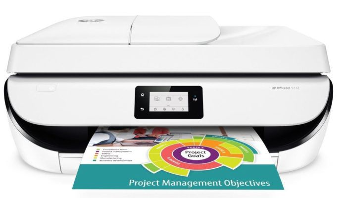 HP OfficeJet 5232   A4 4 in 1 Multifunktionsdrucker monochrom für 89€