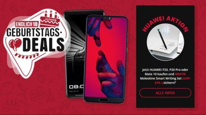 Huawei P 20 Pro oder Huawei Mate 10 Porsche Design für 18€ + Vodafone AllNet & SMS Flat + 5GB LTE (max. 500 Mbit/s) für 36,99€ mtl.