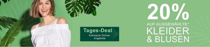 Galeria Kaufhof Dienstag Angebote: heute 20% Rabatt auf Blusen und Kleider