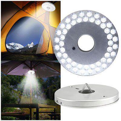 Zelt  oder Schirmlicht mit 48 LEDs für 5,35€