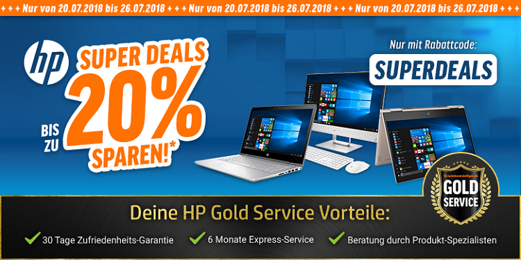 Bis zu 20% Rabatt auf HP Notebooks & PC Systeme   z.B. HP Pavilion x360 15 br009ng für 603,14€ (statt 728€)
