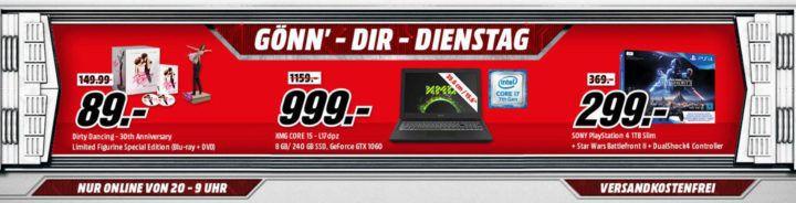 PS4 1TB Schwarz + Star Wars Battlefront II + DualShock4 Controller für 299€ (statt 369€) uvm. im Media Markt Dienstag Sale