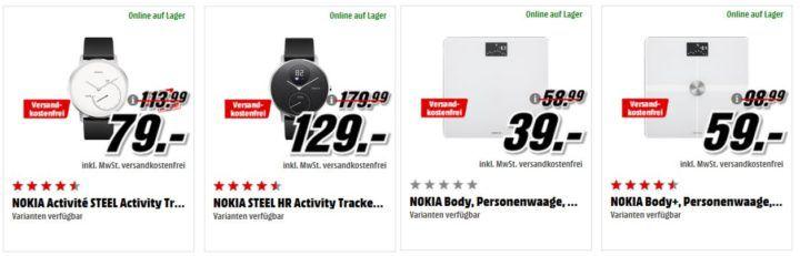 Media Markt NOKIA Tiefpreisspätschicht: günstige Phones & Smart Artikel z.B. NOKIA Fieberthermometer für 69€ (statt 90€)