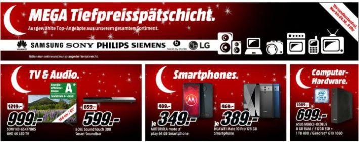 Knaller! Media Markt: Mega Tiefpreisspätschicht mit sehr vielen guten Angeboten!