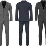 MOSCHINO Herren Luxus Designer Anzug für 217,22€ (statt 388€)