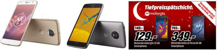 Media Markt Motorola Tiefpreisspätschicht: z.B. MOTOROLA Moto G5 für 99€ (statt 126€)