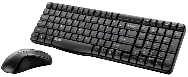 Vorbei! RAPOO 11567 X1800   Tastatur und Maus für 9€ (statt 13€)