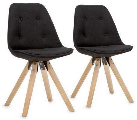 oneConcept Iseo Schalenstühle Retro Stühle im Doppelpack für 99,90€