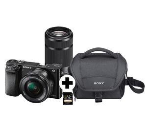 Sony Alpha 6000 Systemkamera mit 24 MP + 2 Objektiven + Zubehör für 688€ (statt 745€)