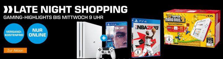 Saturn Late Night mit günstigen Konsolen & Games Zubehör: PS 4 Pro 1TB + Detroit Become Human für 388€ (statt 453€)