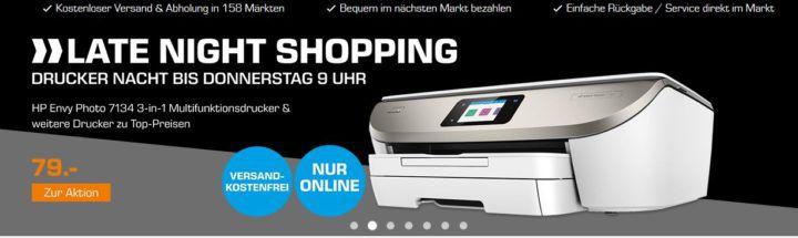 SATURN Drucker Nacht: z.B. HP Envy Photo 7134 ein 3 in 1 Multifunktionsdrucker für 79€ (statt 109€)