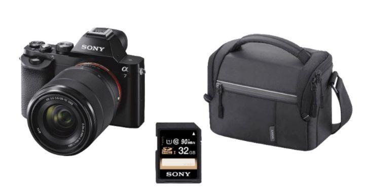 SONY Alpha 7 KB Systemkamera Kit mit 28 70 mm Objektiv + Tasche + 32GB Speicherkarte für 749€ (statt 940€)