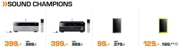 Saturn Weekend Sale günstige Kühlschränke, Audio und TV Angebote