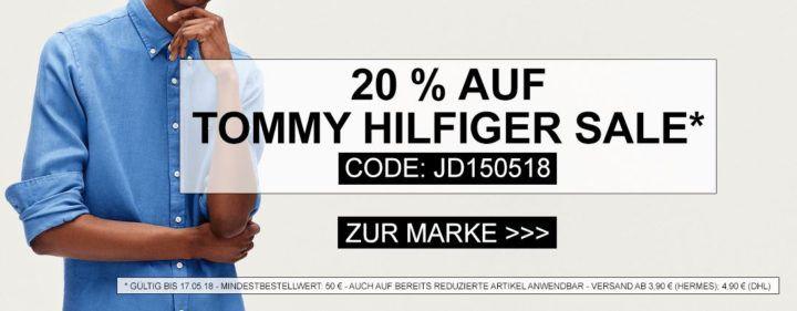 Tommy Hilfiger mit 20% extra Rabatt bei Jeans Direct!