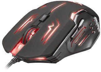 TRUST GXT 108 RAVA Gaming Maus mit 2000 dpi und 6 Tasten für 10€ (statt 19€)