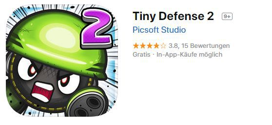 Tiny Defense 2 (iOS) gratis statt 2,99€
