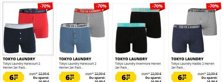 Tokyo Laundry Herren Boxershorts im Doppelpack ab 6,99€