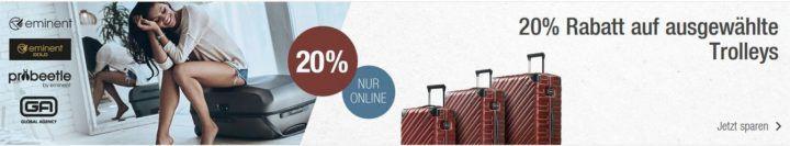 Galeria Kaufhof mit 20% Rabatt auf ausgewählte Trolleys