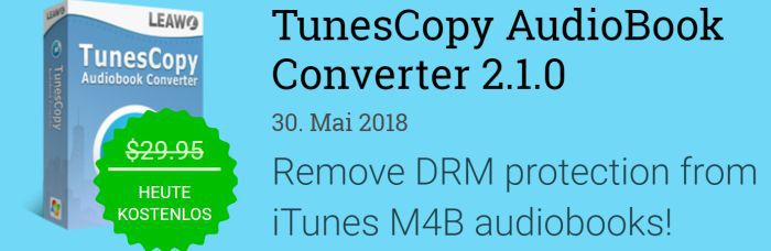 TunesCopy AudioBook Converter 2.1 (Vollversion, Windows) gratis