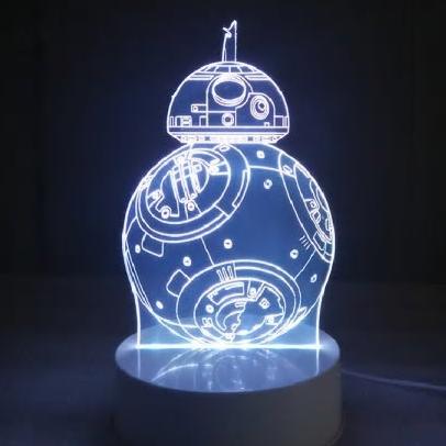 BB 8 3D LED Lampe in mehreren Farben für 7,43€
