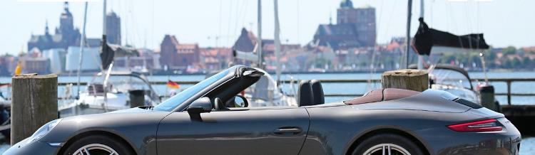 2 4 ÜN im 4*S Hotel in Stralsund inkl. Frühstück, Abendessen, Wellness und Porsche 911 Cabrio für einen Tag ab 239€ p.P.