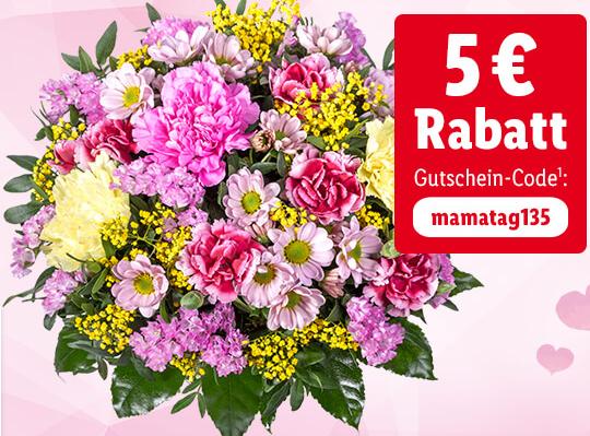 Zum Muttertag: LIDL Blumen mit 5€ Rabatt + VSK frei