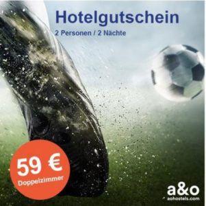 A&O WM Special Hotel Gutschein 2 Personen 2 Nächte in 34 Hotels europaweit  für nur 59€