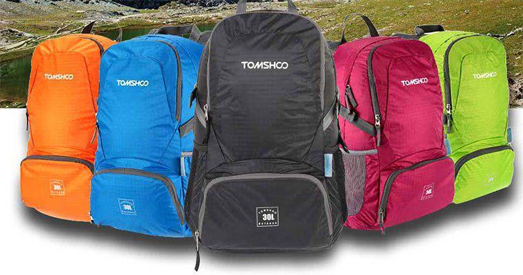 Tomshoo   Sehr leichter & wasserabweisender 30L Rucksack für 7,91€